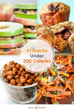 You won't feel any guilt after chowing down on these low-calorie snacks — they all clock in at 200 calories or less per serving.  via @dailyburn