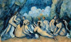 Paul Cezanne Artist dates 1839 - 1906 Full title Bathers (Les Grandes Baigneuses) Date made about Medium and support Oil on canvas Paul Cezanne Paintings, Cezanne Art, Picasso Paintings, Portrait Paintings, Art Paintings, National Gallery, Learn Art, Oeuvre D'art, Art World