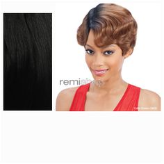 Equal (SNG) In Style Wig Bessie  - Color 1B - Synthetic (Curling Iron Safe) Regular Wig