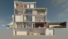 Douro Place, Sectional Perspective Render, Revit, By Shape Architecture