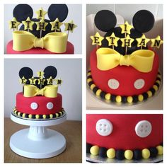 First birthday Mickey Mouse cake!