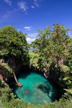 Sua Ocean Trench - drove past without knowing what this was... plan to go back !!!!