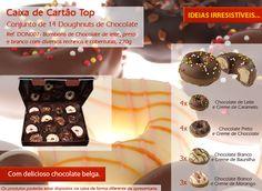 Doughnuts de chocolate com vários recheios uma verdadeira tentação!