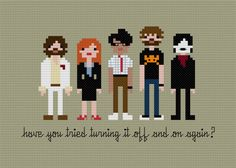 Pixel People  The IT Crowd  Crossstitch PDF by weelittlestitches, $6.00