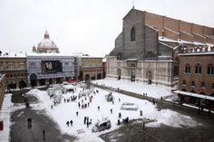 Bologna coperta di neve