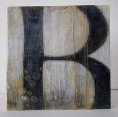 encuastic and paper   an original encaustic collage painting by JuliaJensenStudio