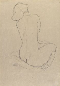 """a-la-belle-e-toile: """"Gustav Klimt - Study for the Virgin, pencil on paper, 55 x Photo Sotheby's """" Life Drawing, Drawing Faces, Cool Drawings, Drawing Sketches, Pencil Drawings, Gustav Klimt, Academic Drawing, Inspiration Drawing, Pencil Drawing Tutorials"""