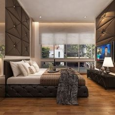 Master Bedroom Interior Design in Luxus Hill Singapore- done by CAD Associates. Interior Design Singapore, Home Interior Design, Master Bedroom Interior, Cosy Bedroom, Attic Rooms, House, Furniture, Sweet Dreams, Type 3