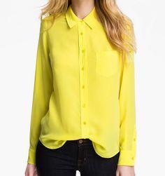 NWT EQUIPMENT BRETT 100% Silk Shirt Blouse, Yellow, Small $198 | eBay