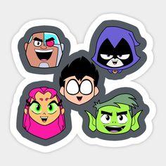 Shop Teen Titans Faces cyborg stickers designed by JamesCMarshall as well as other cyborg merchandise at TeePublic. Kawaii Drawings, Disney Drawings, Scott Menville, Teen Titans Go Robin, Go Logo, Thomas Birthday, Kawaii Art, Stickers, Cartoon Wallpaper