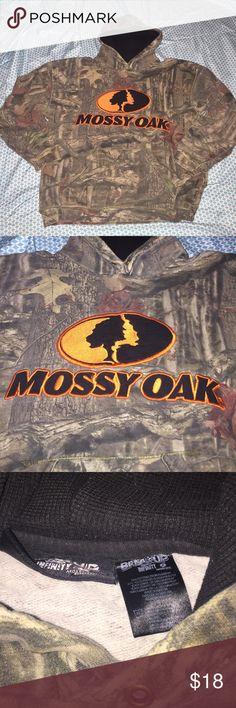Mossy oak men's large hoodie Men's large mossy oak break up infinity hoodie with orange logo. Good condition but missing the hood string Shirts Sweatshirts & Hoodies