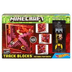 Hot Wheels Minecraft Track Blocks Nether Fortress Trackset : Target