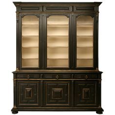 c.1875 French Napoleon III Breakfront Bibliotheque | From a unique collection of antique and modern cabinets at http://www.1stdibs.com/furniture/storage-case-pieces/cabinets/