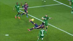 Gol salto suarez #FCBvsLevante