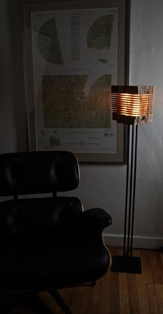 Modern Wood Art Light Sculpture por SplitGrain en Etsy