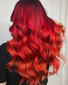 "HAIR & MAKEUP BY KAYLA BOYER (@kayla_boyer) sur Instagram: "" Flaming fall colors  • • • #pravana #brazilianbondbuilder #framar #behindthechair #modernsalon…"""