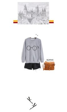 """Romwe - sweater"" by blueeyed-dreamer ❤ liked on Polyvore featuring contest, harrypotter, Sweater, shorts and romwe"