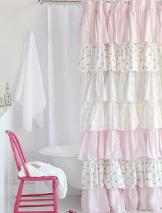 Shower Curtain French Ruffle Camryn