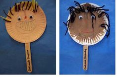 People Puppets using multi-cultural paint or markers, yarn for hair, and googly eyes. Children can make themselves or family and all can discuss families, differences - excellent diversity starter. from http://prekinders.com/families-theme/