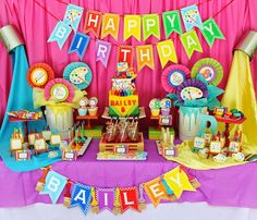 Bright and Colorful party ideas Multiple art/rainbow party links