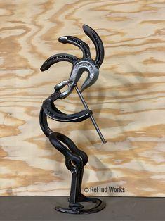 Welding Art Projects, Metal Art Projects, Metal Crafts, Barrel Projects, Welding Crafts, Blacksmith Projects, Welding Ideas, Horseshoe Projects, Horseshoe Art