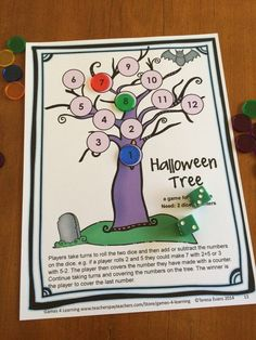 Great Halloween game to make them think! Should I add or subtract? Halloween Math Games First Grade by Games 4 Learning $