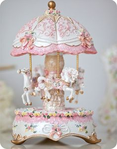 Antique Carousel Music Boxes | carousel, I had one of these as a kid...