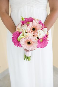 sweet gerbera wedding bouquet