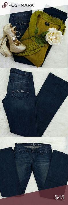 "💞SALE💞 7 for all Mankind Bootcut Premium Denim Awesome 7 for all Mankind Bootcut Embellished Pocket Premium Denim Jeans 98% Cotton 3% Spandex 34"" Inseam 8"" Rise 7 For All Mankind Jeans Boot Cut"