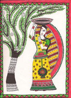 Worli Painting, Mandala Painting, Fabric Painting, Pichwai Paintings, Indian Art Paintings, Madhubani Art, Madhubani Painting, Abstract Drawings, Art Drawings