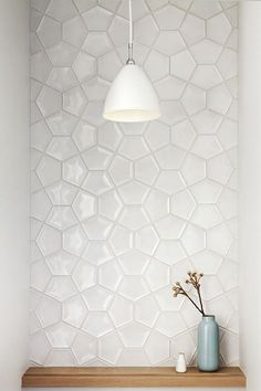 White tile inspiration from a home in California.