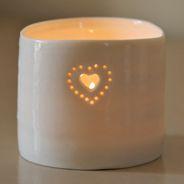 heart tea lights