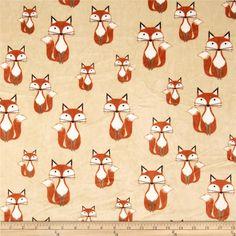 Shannon Minky Cuddle Classic Kids Foxy Tails Beige Fabric By The Yard Fox Fabric, Minky Fabric, Wall Fabric, Fabric Shop, Fox Nursery, Nursery Room, Nursery Ideas, Nursery Decor, Fox Stuffed Animal