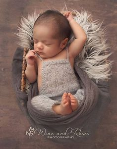 Newborn Romper Newborn Photo Prop Sleep Hat Knot Hat