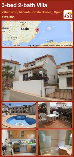 3-bed 2-bath Villa in Villamartin, Alicante (Costa Blanca), Spain ►€129,990 #PropertyForSaleInSpain