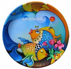 Orestes Bouzon Hand Painted Pottery, Pottery Painting, Ceramic Painting, Ceramic Art, Wal Art, Paint Your Own Pottery, Tropical Art, China Painting, Glazes For Pottery