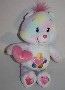"Care Bears True Heart 10"" 2005 pastel plush Be Mine stuffed animal Valentine EXC"