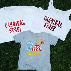 Carnival Family Shirts: Circus Birthday Party