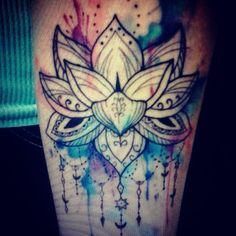 mandala watercolor tattoo - Google Search