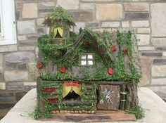 Welcome to Darla Decor! Legend has it that if you place a fairy house in your home a fairy will come and live there, but beware when you are sleeping