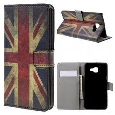 Samsung Galaxy A5 2016 Iso-Britannian lippu puhelinlompakko.
