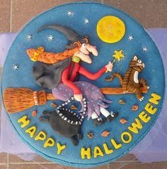 Room on the Broom cake, Halloween Cake, Julia Donaldson Cake, Axel Scheffler Cake, Witch Cake