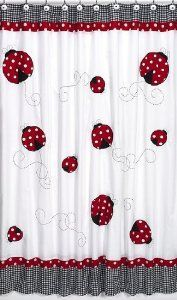 Sweet Jojo Designs Polka Dot Ladybug Kids Shower Curtain by Sweet Jojo Designs