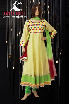 Feel the warmth with this Idyllic Chanderi anarkali.