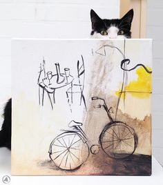"""Feeling Good Art Collection - """"La terrazzo"""" (and our cat)"""
