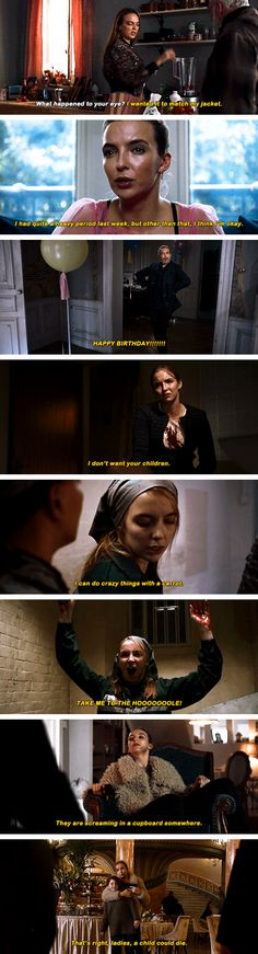 Villanelle + iconic one-liners Series Movies, Tv Series, Desperate Times, Are You Not Entertained, Jodie Comer, Black Sails, American Gods, Fandoms, Lost Girl