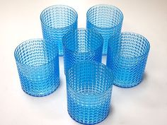 Kaj Franck Nuutajarvi Ruuturitari 6 Light Blue Glasses | eBay