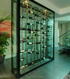 All Glass Wine Cellar - modern - wine cellar - vancouver - Blue Grouse Wine Cellars - Home Decor Idea Wine Cellar Modern, Glass Wine Cellar, Home Wine Cellars, Wine Cellar Design, Wine Glass, Wine Bottles, Wine Decanter, Cave A Vin Design, Wine Display