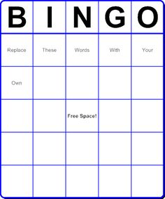 Free bingo card template large printable blank bingo for Create your own word search template