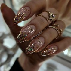 Natural Almond Nails, Almond Shape Nails, Almond Nails Designs Summer, Luv Nails, School Nails, Silver Nails, Neutral Nails, Cute Acrylic Nails, Gorgeous Nails